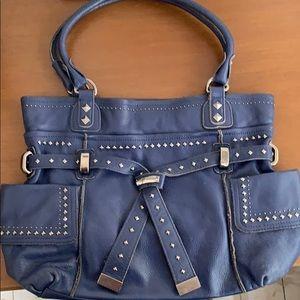 B Makowsky Blue Handbag